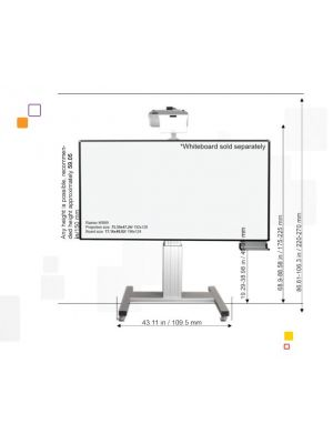 RAINIER IPD-MOB Projector Height Adjustable Mobile Stand